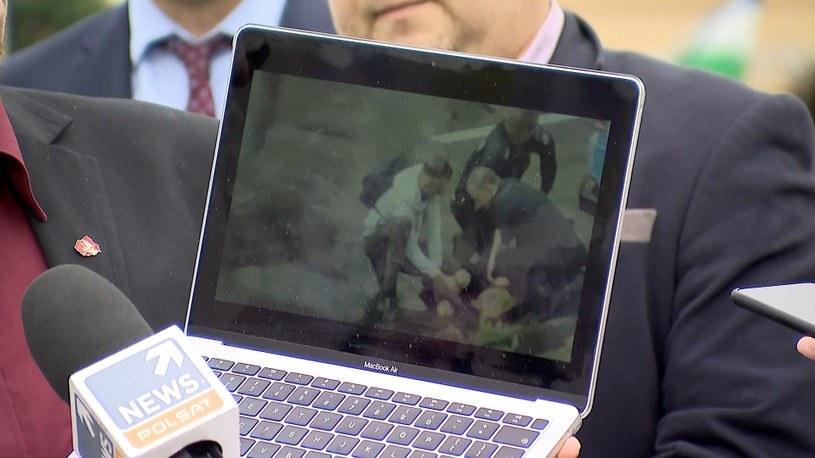 Kadr z nagrania dotyczącego śmierci Bartosza S. z Lubina /Polsat News