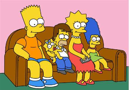 "Kadr z ""Simpsonów"" /"