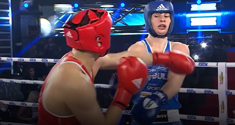 Kadr z walki Kacper Parada - Sejfulla Askhabov /Polsat Sport