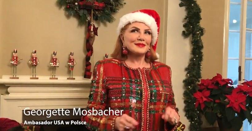 Kadr z życzeń świątecznych ambasady USA w Polsce /materiały prasowe