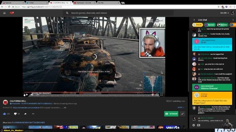 Kadr ze streamu na kanale Albert_Fn_Wesker w serwisie YouTube /materiały źródłowe
