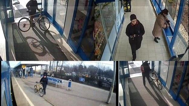 Kadry z monitoringu, na których widać zaginioną nastolatkę /Policja