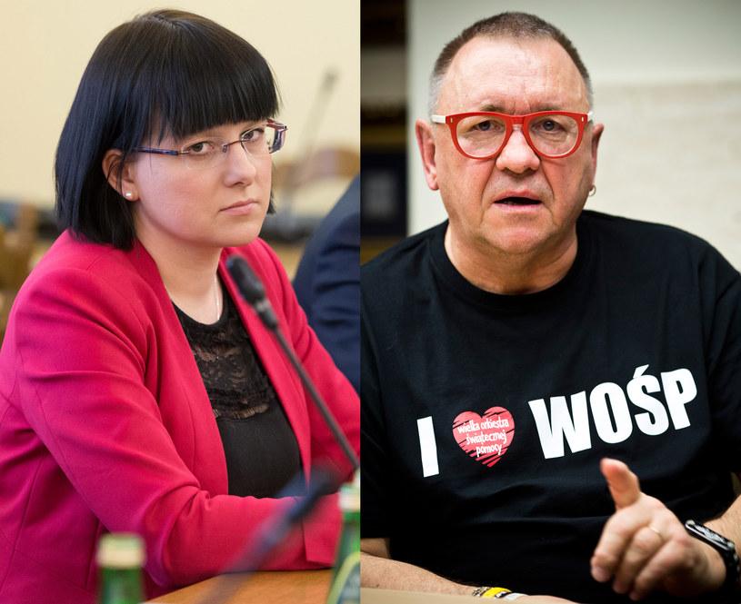 Kaja Godek i Jerzy Owsiak, fot. Mateusz Włodarczyk, Wojtek Gorski /Agencja FORUM