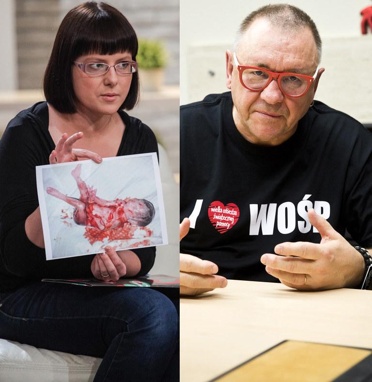 Kaja Godek i Jerzy Owsiak, fot. Tomasz Adamowicz, Wojtek Gorski /Agencja FORUM