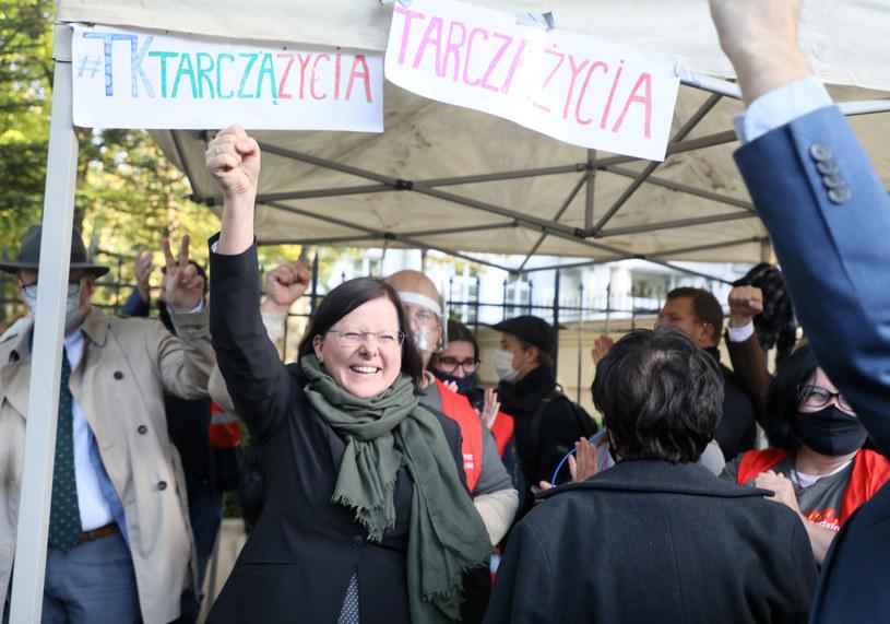 Kaja Godek - jeszcze przed ogłoszeniem wyroku Trybunału Konstytucyjnego. /Jakub Kamiński   /East News