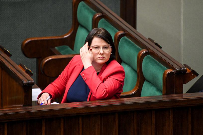 Kaja Godek w Sejmie /Jacek Dominski/ /Reporter