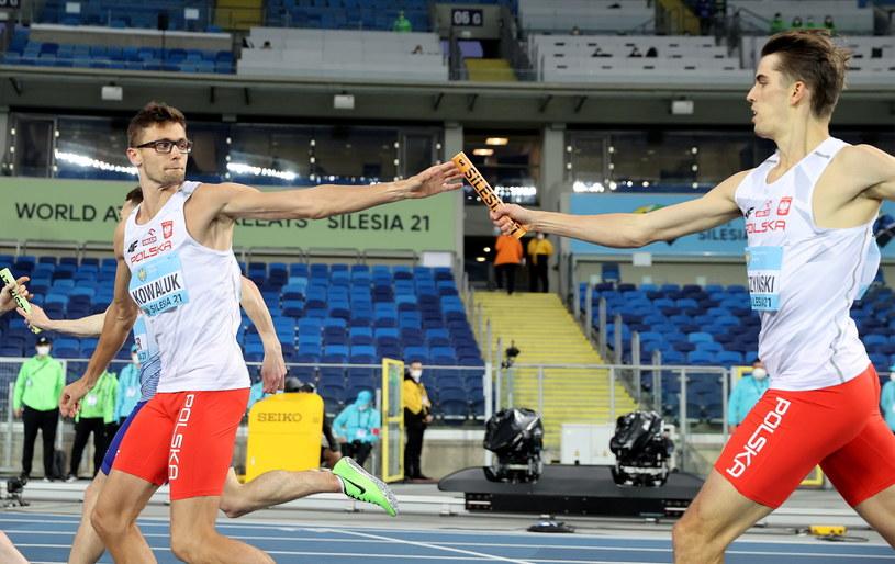 Kajetan Duszyński (z prawej) i Dariusz Kowaluk /Andrzej Grygiel /PAP