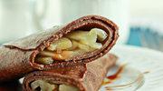 Kakaowe naleśniki gryczane z gruszkami