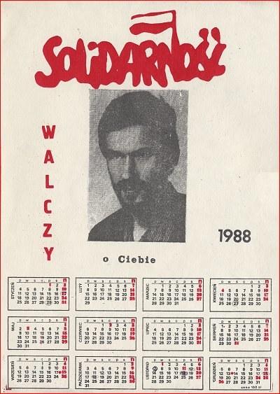 """Kalendarz podziemnej """"Solidarności"""" /Archiwum autora"""