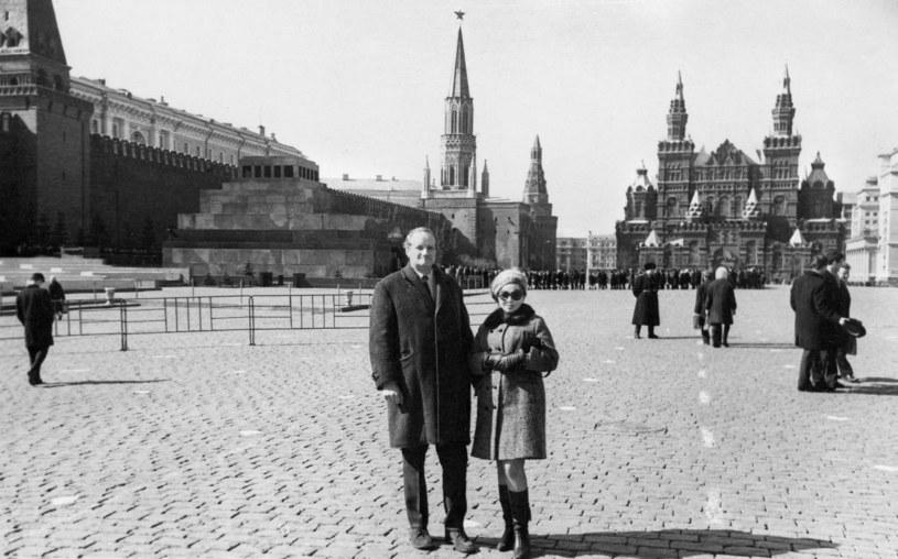 Kalina Jędrusik i Stanisław Dygat w Moskwie, fot. z archiwum Aleksandry Wierzbickiej /archiwum prywatne