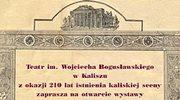 """Kalisz: 210 lat """"Teatru nad Prosną"""""""