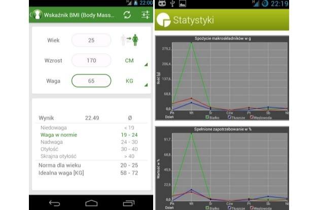 Kalkulator BMI - Waga Idealna i Dziennik Posiłków /materiały prasowe