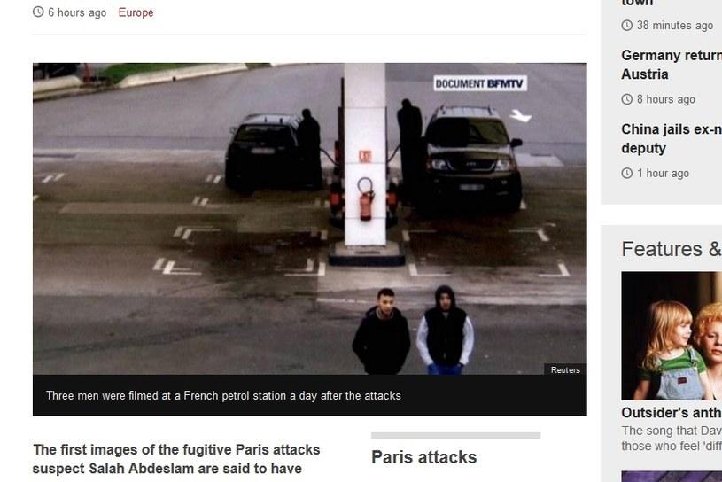 Kamery CCTV uchwyciły Salaha Abdeslama na jednej ze stacji benzynowych w pobliżu granicy /BBC /&nbsp