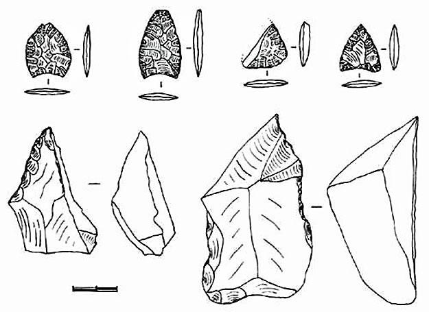 Kamienne narzędzia ludu Huentelauquen /MWMedia