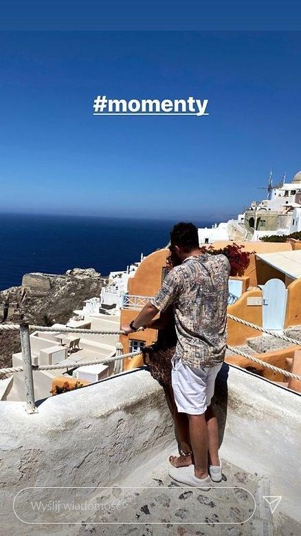 Kamil Bednarek na wakacjach w Santorini / Instagram /