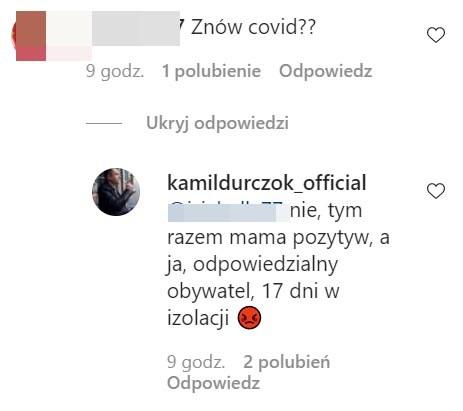 Kamil Durczok na Instagrmie odpowiedział jednej z fanek /Instagram/kamildurczok_official /Instagram