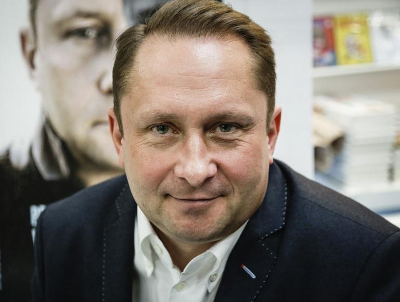 Kamil Durczok na promocji swojej książki /Beata Zawrzel /Reporter
