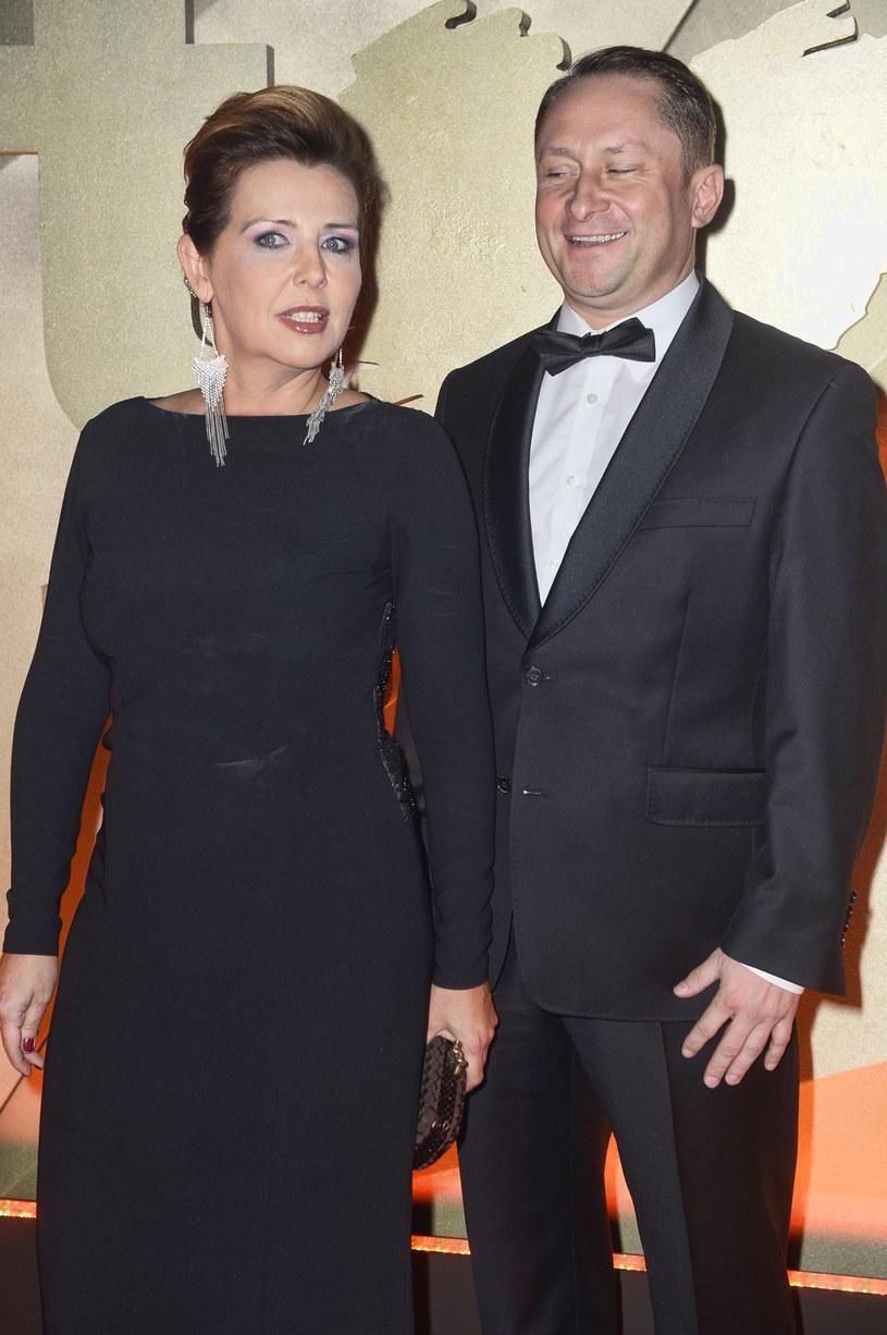 Kamil Durczok z żoną /Jarosław Antoniak /MWMedia