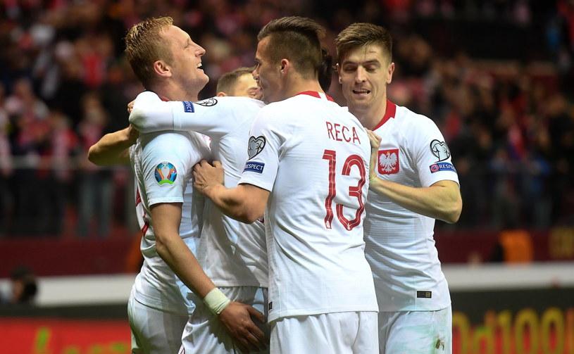 Kamil  Glik, Arkadiusz Reca i Krzysztof Piątek /PAP/Piotr Nowak /PAP