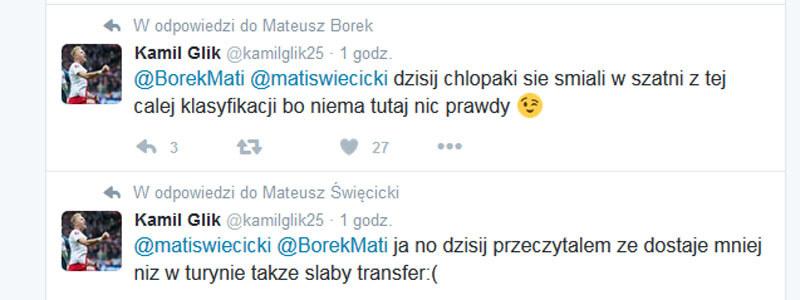 Kamil Glik na Twitterze /