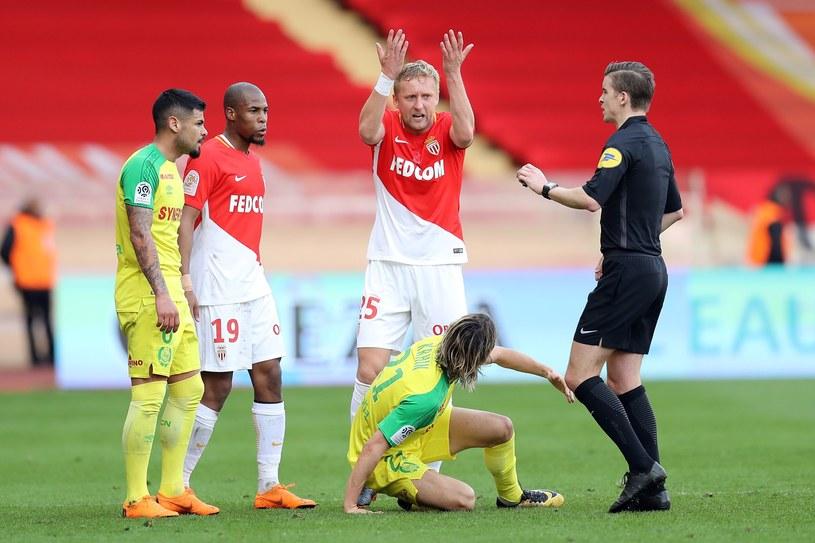 Kamil Glik w meczu z Nantes. Monaco wygrało 2-1 /AFP