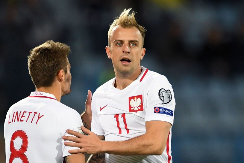 Kamil Grosicki i Karol Linetty /AFP