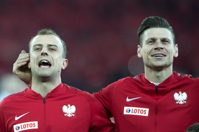 Kamil Grosicki i Łukasz Piszczek przed towarzyskim meczem Polska - Korea Poludniowa na Stadionie Śląskim /East News