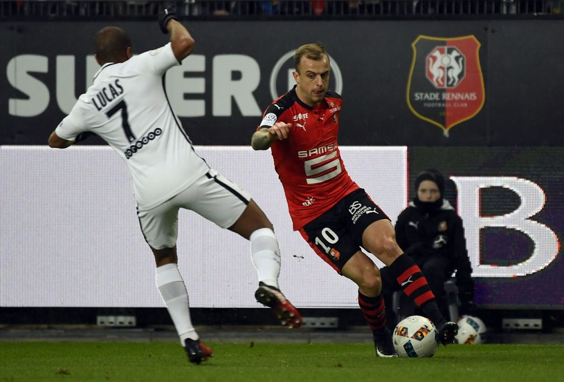 Kamil Grosicki (P) w barwach Stade Rennes /AFP