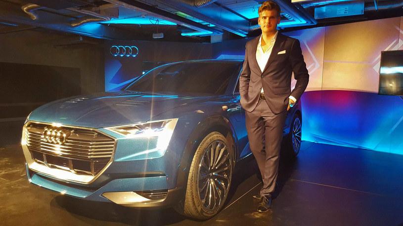 Kamil Łabanowicz i zaprojektowane przez niego Audi e-tron quattro /INTERIA.PL