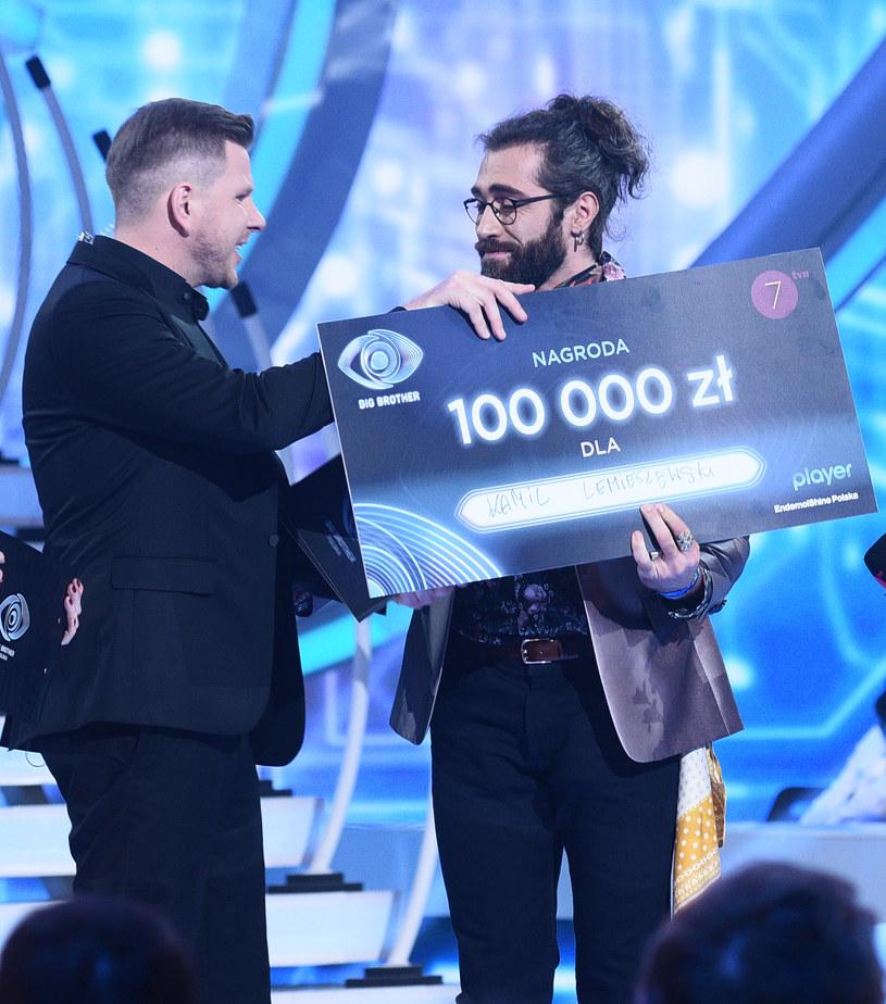 Kamil Lemieszewski odbiera nagrodę /Andras Szilagyi /MWMedia