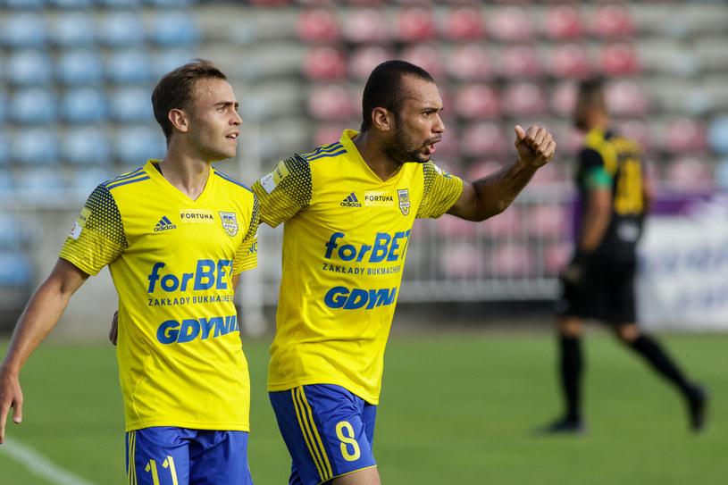 Kamil Mazek (z lewej) i Marcus da Silva /DOMINIK GAJDA / 400 mm / NEWSPIX.PL /Newspix