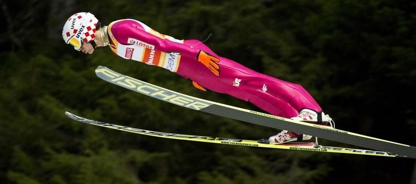 Kamil Stoch był najlepszy w serii próbnej w Oslo /AFP