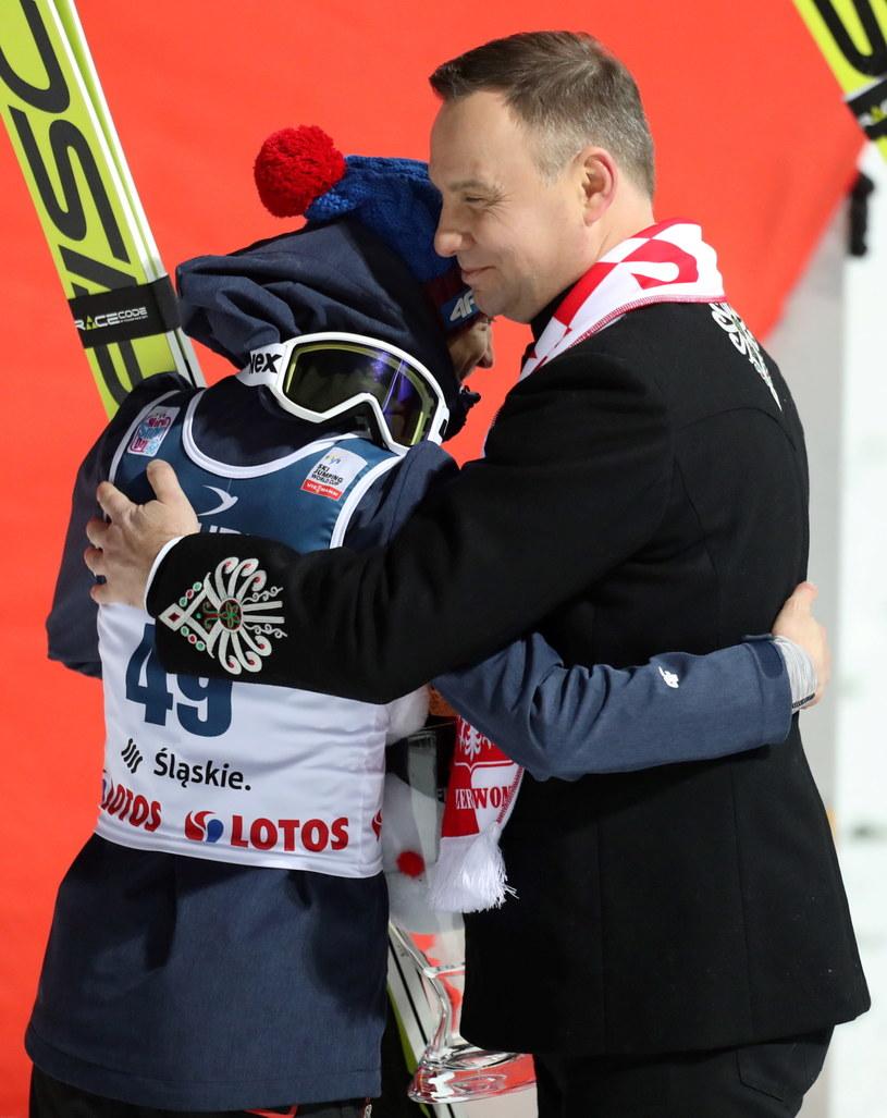 Kamil Stoch dostał gratulacje od prezydenta RP Andrzeja Dudy. /Grzegorz Momot /PAP