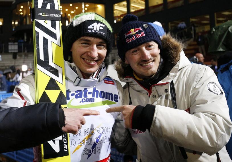 Kamil Stoch i Adam Małysz /fot. Grzegorz Momot /PAP