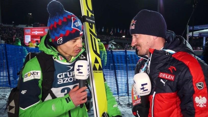 Kamil Stoch i Adam Małysz /Eurosport