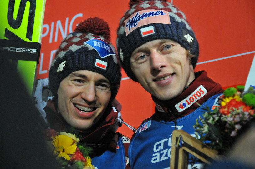 Kamil Stoch i Dawid Kubacki /Fot. Marek Dybas/REPORTER /East News