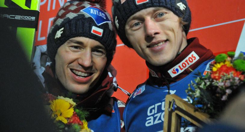Kamil Stoch i Dawid Kubacki /MAREK DYBAS/REPORTER /East News