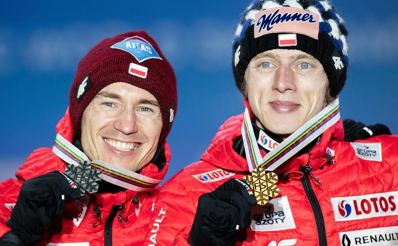 Kamil Stoch i Dawid Kubacki /AFP