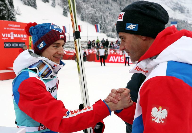 Kamil Stoch i Stefan Horngacher w Engelbergu /fot. Grzegorz Momot /PAP