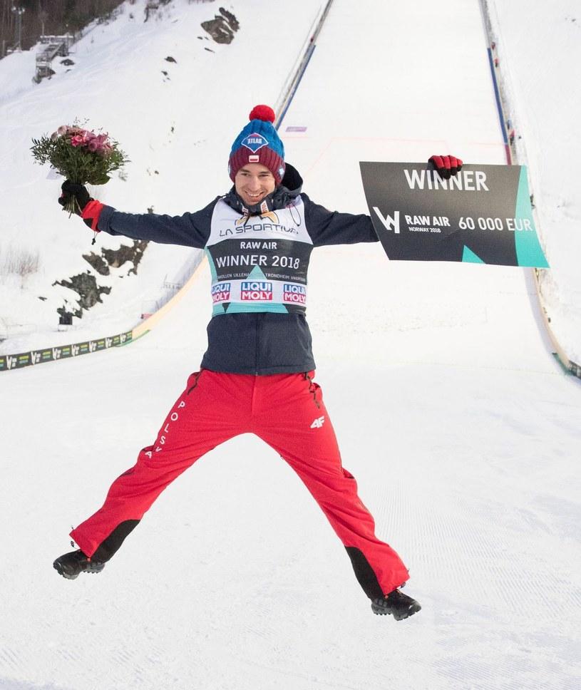 Kamil Stoch na skoczni Vikersund /AFP