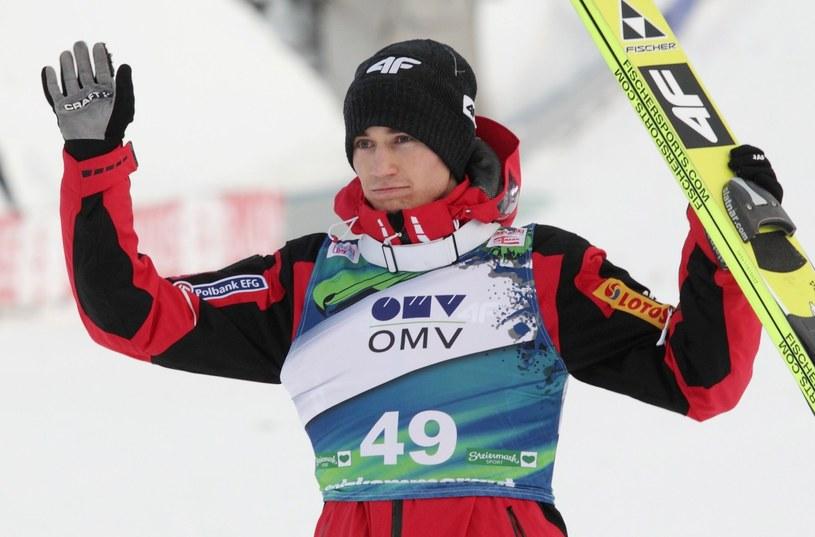 Kamil Stoch na skoczni w Bad Mitterndorf /AFP