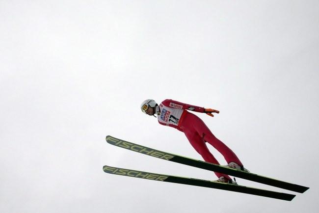 Kamil Stoch na skoczni w Falun /FREDRIK VON ERICHSEN /PAP/EPA
