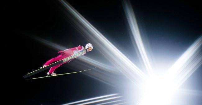 Kamil Stoch na skoczni w Falun /PAP/EPA