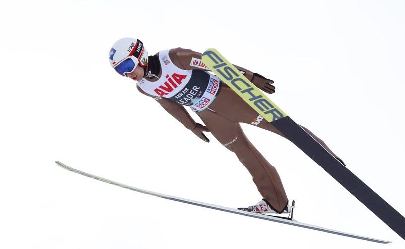 Kamil Stoch na skoczni w Holmenkollen /PAP/EPA