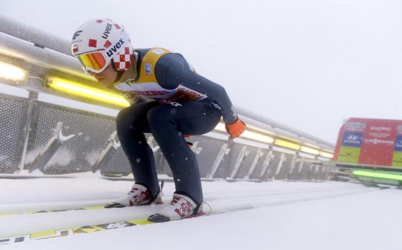 Kamil Stoch na skoczni w Kuopio /AFP