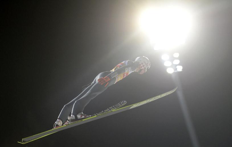 Kamil Stoch na skoczni w Oberstdorfie /AFP