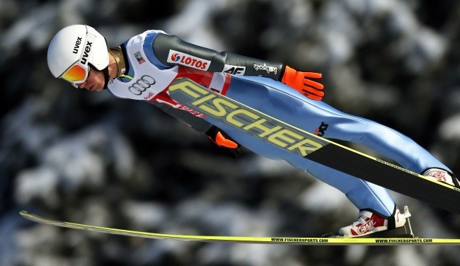 Kamil Stoch na skoczni w Oberstdorfie /Grzegorz Momot /PAP