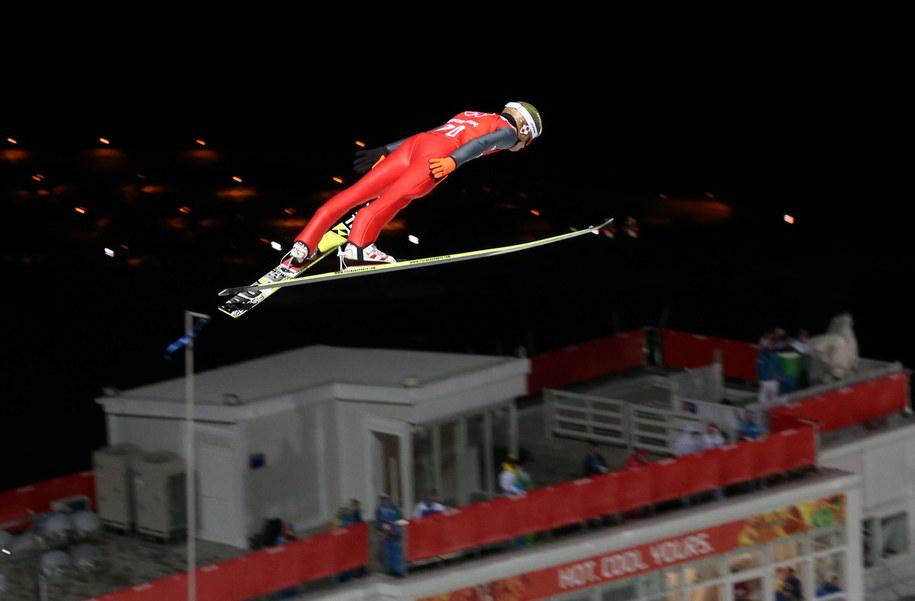 Kamil Stoch na treningu /Grzegorz Momot /PAP