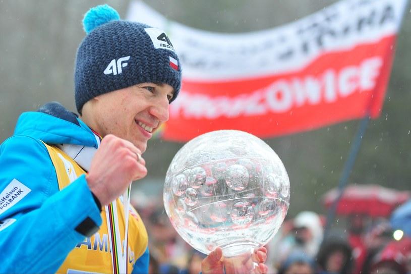 Kamil Stoch - najlepszy skoczek sezonu 2013/2014 /AFP
