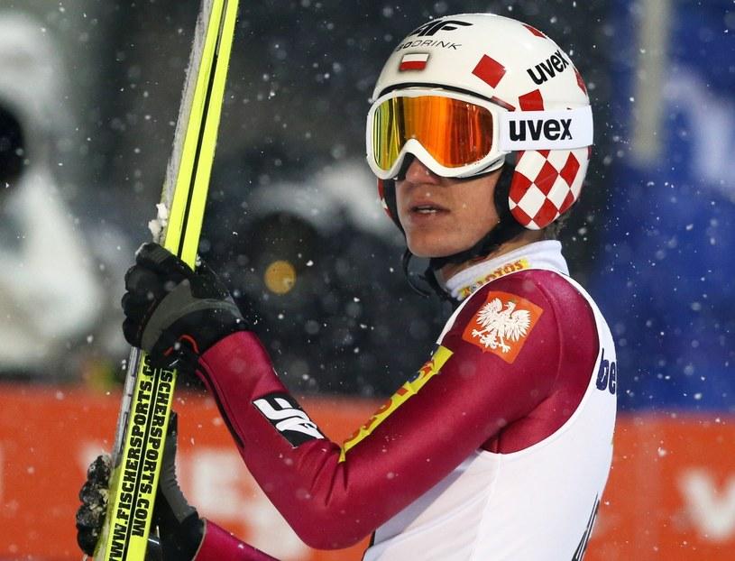 Kamil Stoch nie dowierza, że nie zmieścił się na podium /Grzegorz Momot /PAP